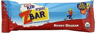 CLIF KID ZBAR - Organic Energy Bar - Honey Graham - (1.27 oz, 18 Count)