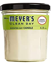 Mrs. Meyer's Merge Clean Day Scented Soy Candle, Lemon Verbena, Small, 4.9 Ounce
