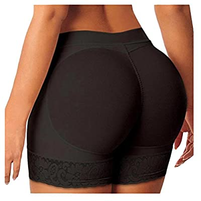 EachWell Women Seamless Lace Butt Lifter Shaperwear Padded Hip Enhancer Underwear Panties