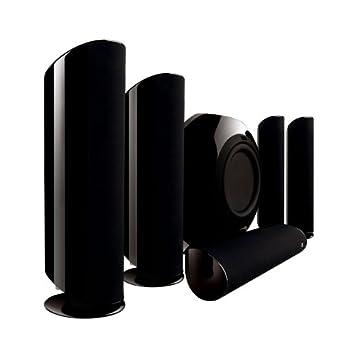 kef home speakers. kef kht5005.2 5.1 home theater speaker system (black) (discontinued by manufacturer kef speakers