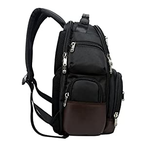 """Bopai Backpack with Water Bottle Holder and Laptop Compartment Travel Outdoors Rucksack Multifunctional 15.6"""" Laptop Backpack Black"""