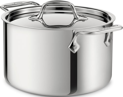 All-Clad 4304 Stainless Steel 3-Ply Bonded Dishwasher Safe Casserole with Lid Cookware, 4-Quart, Silver by (All Clad 4 Quart Casserole)