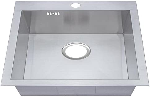 Brushed /Évier en acier inoxydable DS025 Grand Rayon 1/bac z/éro fabriqu/ée main rectangulaire Cuisine /Évier