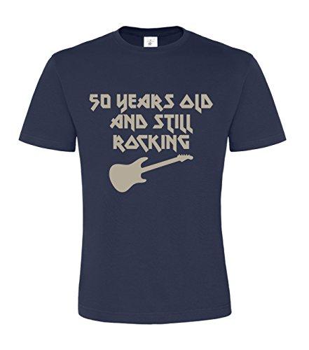 50años de edad y balancín de Still '50TH cumpleaños Unisex T-Shirt azul marino