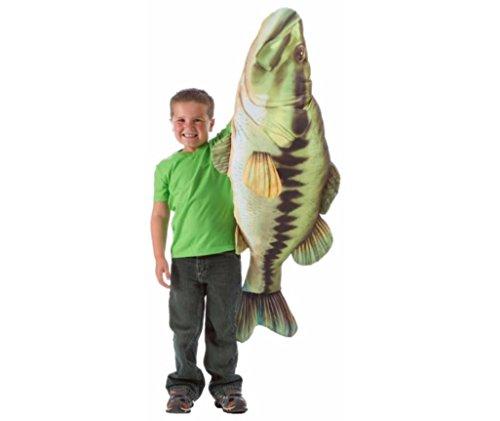 Fish Giant Pillows (Huge Stuffed Bass Fish - Giant Pillow - 55