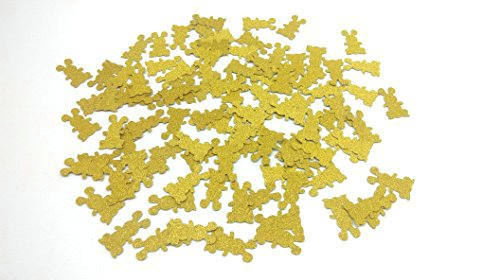Glitter Bunny - Hemarty 100pc Gold Glitter Bunny confetti Bunny Party Decorations Baby Shower Decorations
