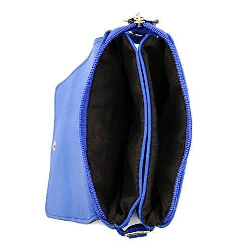Blue Small Flap Bag Top Crossbody wqFIH4qr