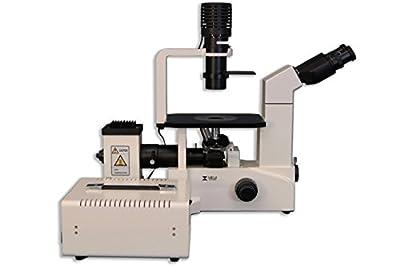 MEIJI TECHNO AMERICA TC-5500 Inverted Binocular Microscope, Planachromat Fluorescence Objective