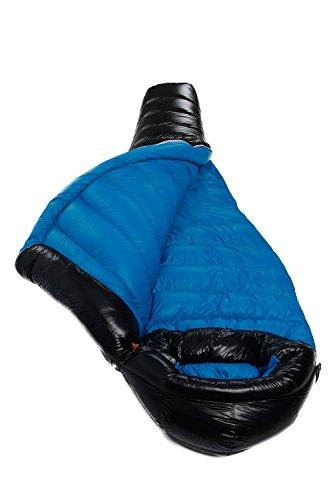 AEGISMAX Ultra Light Goose Down Sleeping Bag for Backpacking 18°F ~28°F 3 Season Mummy Down Sleeping Bag, 800 Fill, Camping, Hiking G2 (Blue, Regular)