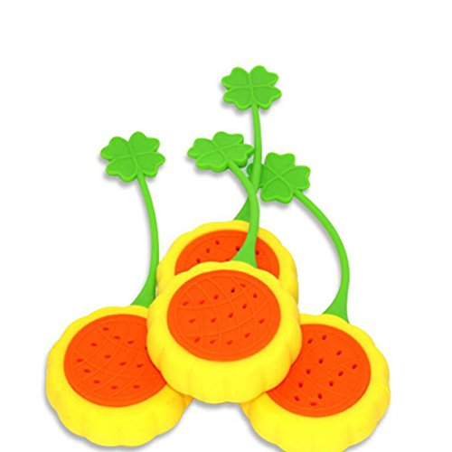Funnytoday365 1Pcs Creative Sunflower Silicone Tea Infuser Kitchen Gadgets by FunnyToday365 (Image #3)