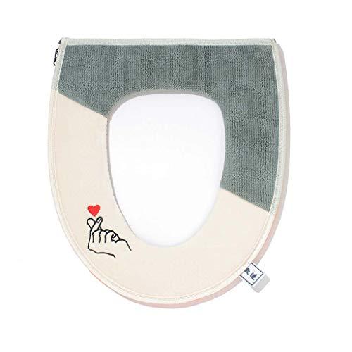Xiaojie Kirin badkamer mat, pluche borduurwerk, waterdichte rits capuchon, met handvat, kleur bijpassende romp zitting…