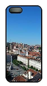 iPhone 5S Case Lisboa Roofs PC Custom iPhone 5/5S Case Cover Black