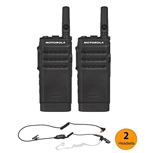 - 2 Motorola SL300 UHF Digital Radio & 2 PMLN7158 Surveillance Headsets Designed for your Security Team
