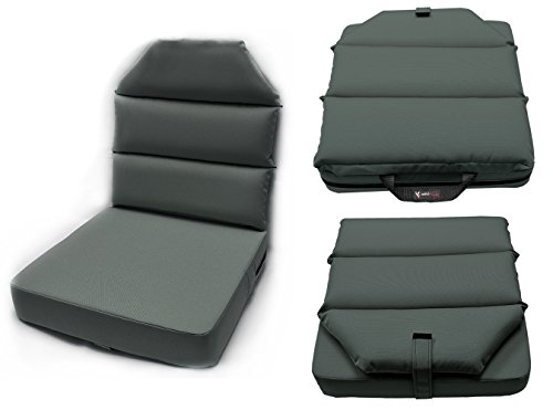 AeroPhoenix Seat Cushion with Back - 4'' Bottom, 2'' Back - GRAY by Aero Phoenix