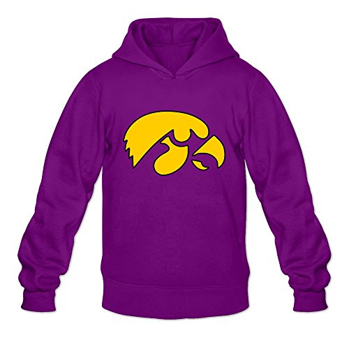 TBTJ Men's Iowa Hawkeyes NCAA Hooded Pullover Sweatshirt Large