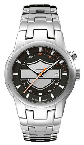 Harley-Davidson Men's Bar & Shield Stainless Steel Watch, Silver Finish 76B039