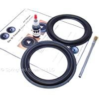 Butyl Rubber 6.5 Speaker Surround Repair Kit - 2 Piece, 6.5 Inch