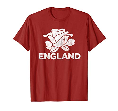 Classic England Rugby Shirt - Vintage English Rugby Shirt | England Rugby Football Top T-Shirt