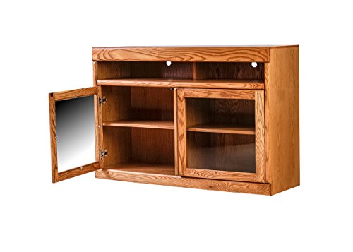 Forest Designs Bullnose TV Cart: 42W X 36H X 18D Antique Alder