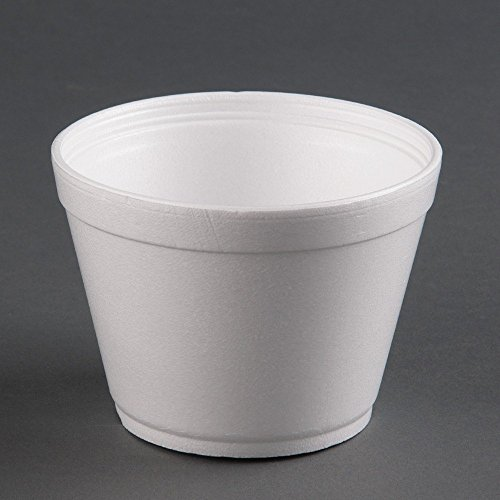 KC Commerce 12oz Foam Bowls With Lids ( 100 Set ) For Hot & Cold - Soup Containers Styrofoam