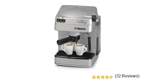 Saeco Via Veneto de Luxe, Plata, 1050 W, 230 V, 50 Hz, 245 x 240 x 300 mm, 4100 g - Máquina de café: Amazon.es: Hogar