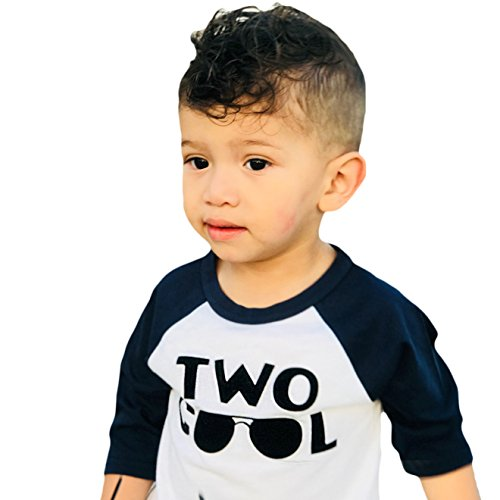Olive Loves Apple Two Cool 2nd Birthday Shirt for Toddler Boys 2nd Birthday Shirt Boy 3/4 Sleeve Two Cool