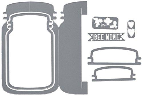 Sizzix 660372 Thinlits Die Set, Card, Jar Fold Jen Long, 7-Pack
