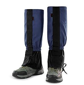 ZOSEN Leg Gaiters Waterproof Snow Boot Gaiters Outdoor Mountaineering Snow Proof Shoe Cover (Navy, 1 Pair)