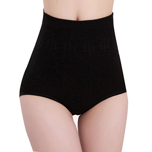 YANG-YI Clearance, Womens Lingerie Womens High Waist Tummy Control Body Shaper Briefs Slimming Pants (Black, One Szie)