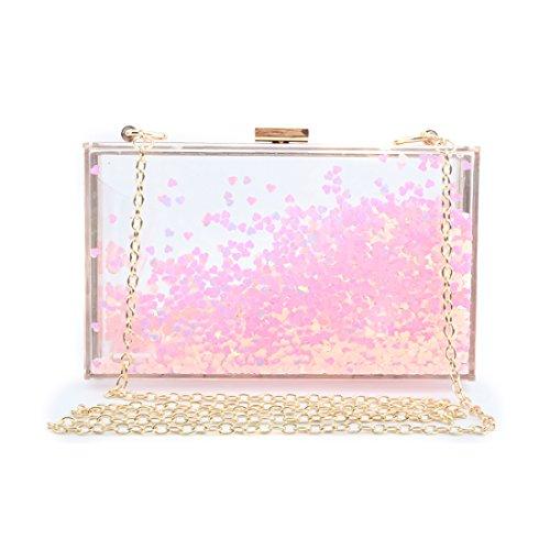 Body Evening Box Transparent Rose Cute Clear Handbag Women See Bag Purse Acrylic Clutch Through Cross PaBcq