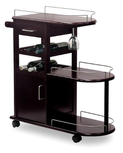 Modern Entertainment Cart Wine Rack On Wheels