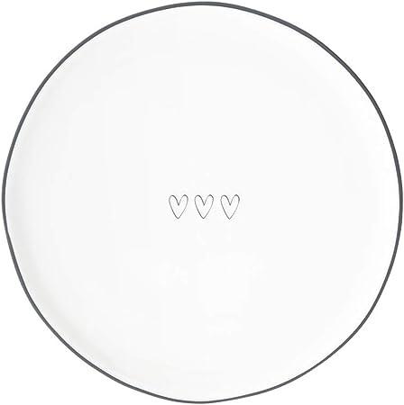 piatto bianco diametro 19