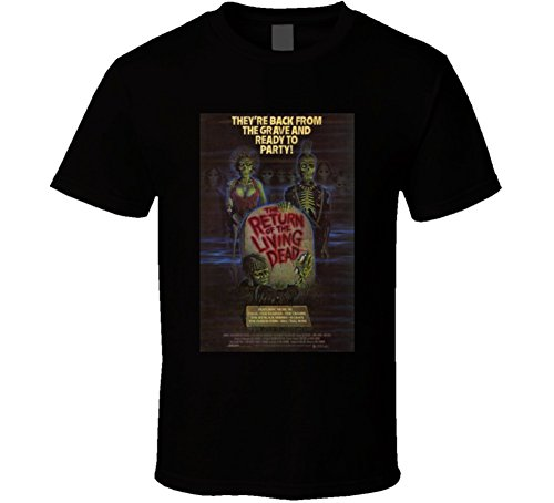 Return of The Living Dead Cool Vintage 80's Movie Poster Fan T Shirt XL Black (Return Of The Living Dead 3 Cast)