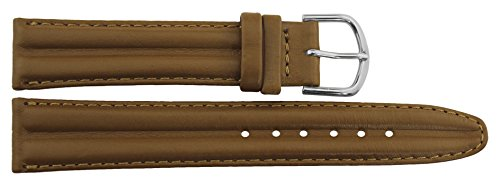 Citime Brown Leather Band Replacement Pin Clasp, 18mm Strap _ B18BroItr36S