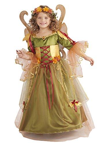 [Forest Fairy Queen Costume, Medium] (Fall Fairy Costume Child)