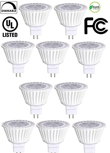 10 Pack Bioluz LED MR16 LED Bulb 50W Halogen Replacement Dimmable 7w 3000K 12v AC/DC UL Listed - 12v Ac Mr16 Lamp