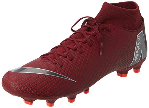 Picture of NIKE Men's Mercurial Superfly VI Academy FG/MG Soccer Cleats (Team Red/MTLC Dark Grey) (10)