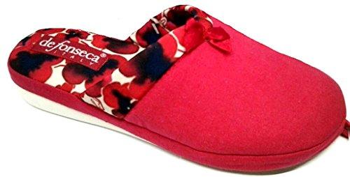 Mod Rosso De W141 Pantofole Verona Cotone Donna Ciabatte Fonseca Da nqrqwfYz4v
