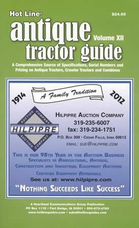 Read Online Hot Line Antique Tractor Guide Vol 10, 2010 (Farm Equip Pricing, Specs, Serial Numbers - pre1965) pdf epub