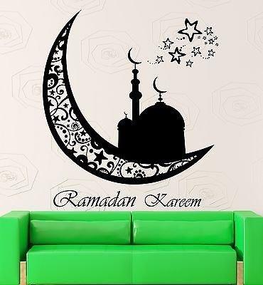 Wall Sticker Vinyl Decal Arabic Decor Ramadan Kareem Islam Muslim VS2050