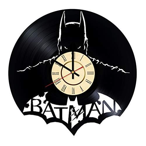 Batman Vinyl Clock Gifts for DC Superhero Fans Dark Knight Living Room Wall Decor