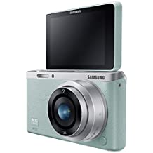 """Samsung NX Mini 20.5MP CMOS Smart WiFi & NFC Compact Interchangeable Lens Digital Camera with 9mm Lens and 3"""" Flip Up LCD Touch Screen (Mint Green)"""