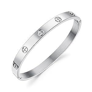 LOHOME Fashion Bracelets Cross Screw Bracelet for Womens/Mens/Lovers/Couples