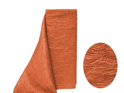- BalsaCircle 12-Inch x 10 yards Burnt Orange Crinkled Taffeta Fabric the Bolt - Sewing Craft Wedding Favors Supplies