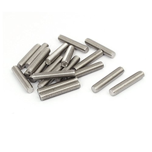 (uxcell M8 x 40mm 1.25mm Pitch 304 Stainless Steel Fully Threaded Rods Fasteners 20 Pcs)