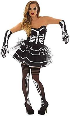 Fun Shack Negra Esqueleto con Tutú Disfraz para Mujeres - XL ...