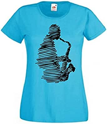Round Neck SaxoPhone T-Shirt For Women