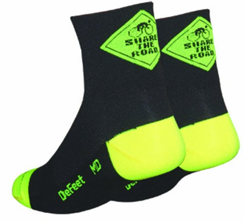 DeFeet Aireator Share the Road Socks,Black,X-Large