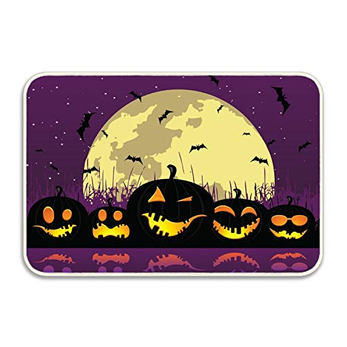 Custom Halloween Pumpkins River Doormat Door Welcome Mat Rug Cover Sign Outdoor Indoor Floor Mats Non-Slip