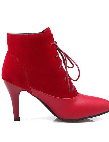 XZZ  Damenschuhe - - - Stiefel - Kleid   Lässig - Vlies   Kunstleder - Stöckelabsatz - Stifelette   Spitzschuh - Schwarz   Rot   Beige B01L1GK9DO Sport- & Outdoorschuhe Sehr gute Farbe 6244a4